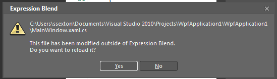 193 – You Can Have a Project Open in Blend and Visual Studio at the