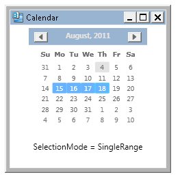 364 – Allowing a User to Select Multiple Dates in a Calendar Control