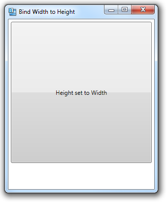 431 – Binding a Control's Width to Its Height | 2,000 Things You