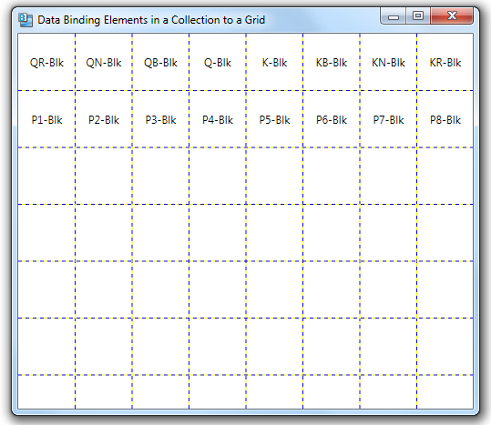 Data Binding Elements In A Collection To A Grid