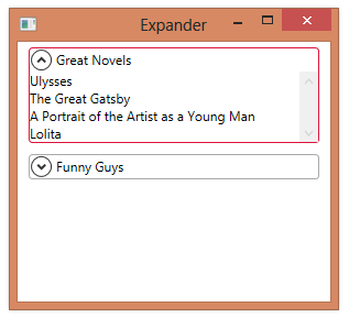 Expander | 2,000 Things You Should Know About WPF