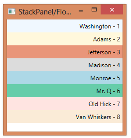 1042 How FlowDirection Affects A StackPanel
