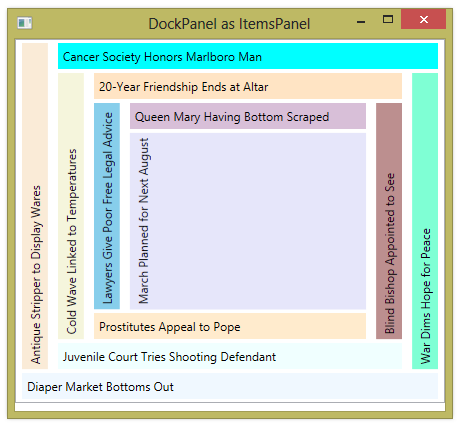 DockPanel | 2,000 Things You Should Know About WPF